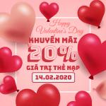 Vinaphone khuyến mãi ngày 14/2/2020