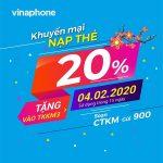 Vinaphone khuyến mãi ngày 4/2/2020