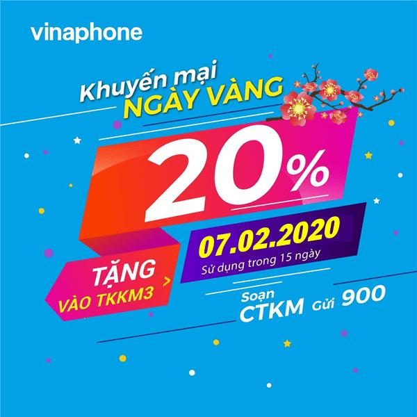 Vinaphone khuyến mãi ngày 7/2/2020