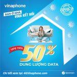 Vinaphone tặng thêm 50% dung lượng data 4G Vinaphone giá không đổi
