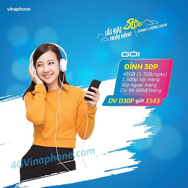 Hướng dẫn cách đăng ký gói cước D30P Vinaphone