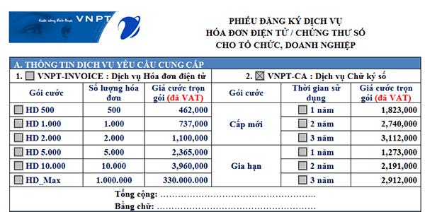 Hướng dẫn cách đăng ký dịch vụ hóa đơn điện tử VNPT Invoice