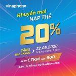 Thông tin chi tiết chương trình khuyến mãi Vinaphone ngày 22/5/2020
