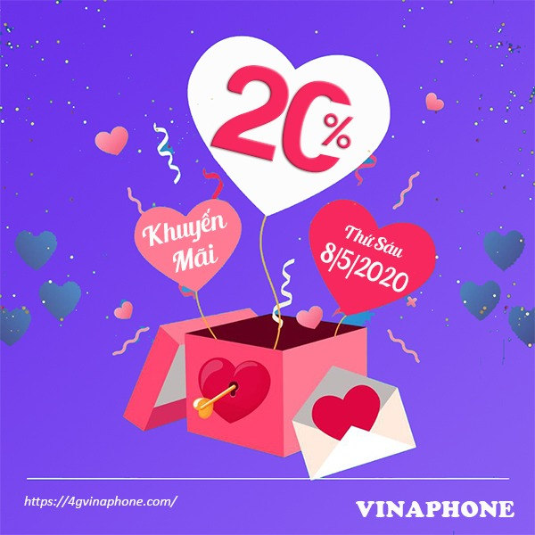 Khuyến mãi Vinaphone ngày 8/5/2020 ưu đãi ngày vàng toàn quốc