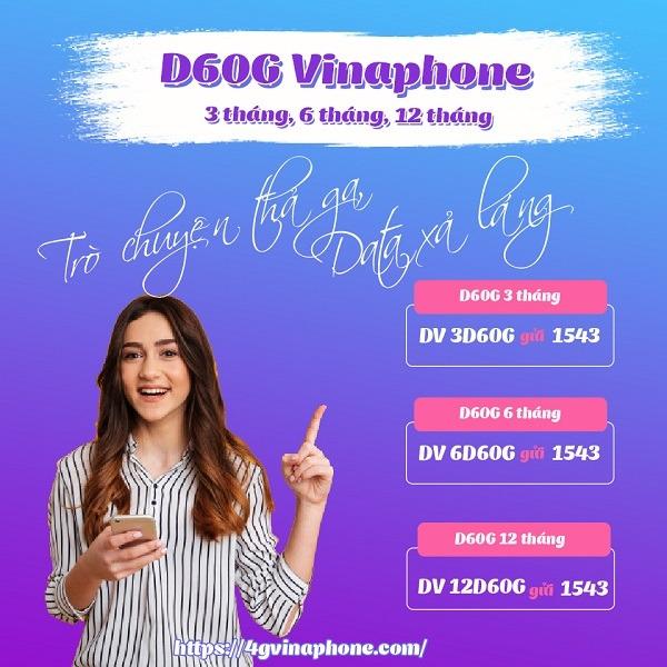 Hướng dẫn cách đăng ký D60G Vinaphone chu kỳ dài