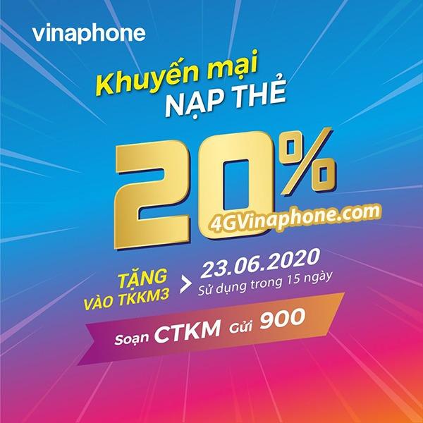 Vinaphone khuyến mãi ngày 23/6/2020 ưu đãi cho tb may mắn