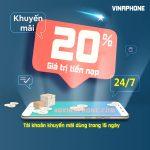 thông tin chi tiết chương trình khuyến mãi Vinaphone ngày 24/7/2020