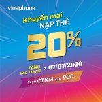 Thông tin chi tiết về chương trình khuyến mãi Vinaphone ngày 7/7/2020
