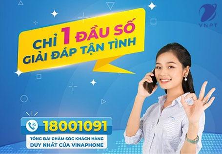 Tổng đài VinaPhone, Số Hotline CSKH Vinaphone 24/7 miễn phí 18001091