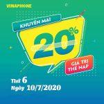 Vinaphone khuyến mãi ngày 10/7/2020 cho tất cả tb trả trước
