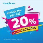Thông tin chi tiết về chương trình Vinaphone khuyến mãi ngày 21/7/2020