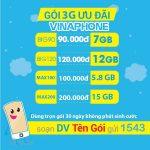 Gói cước 3G Vinaphone mới