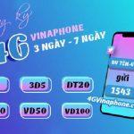 Các gói cước 4G Vinaphone 3 ngày, gói cước 4G Vinaphone 7 ngày được dùng nhiều nhất