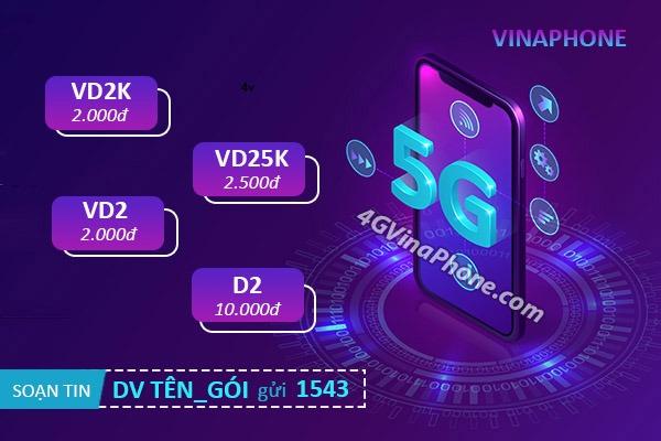 Hướng dẫn đăng ký gói cước 5G Vinaphone 1 ngày