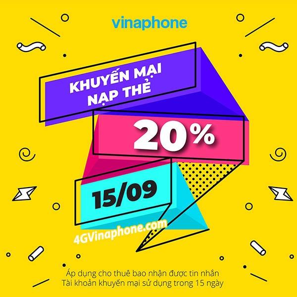 Chi tiết chương trình khuyến mãi Vinaphone ngày 15/9/2020