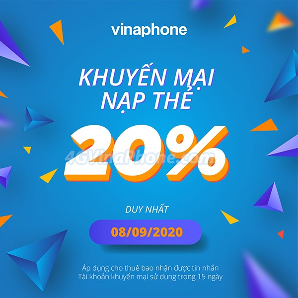 Vinaphone khuyến mãi ngày 8/9/2020 ưu đãi ngày vàng 8/9/2020 trêntoàn quốc