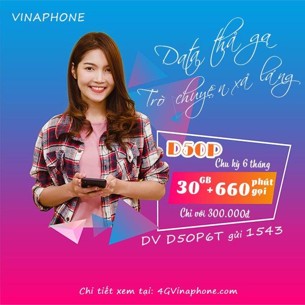 Hướng dẫn cách đăng ký gói cước D50P6T Vinaphone