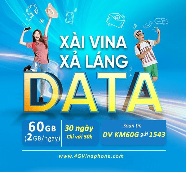 Hướng dẫn cách đăng ký gói cước KM60G Vinaphone ưu đãi data hấp dẫn cả tháng