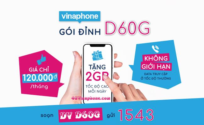 Cách kiểm tra ưu đãi data và gọi trong gói D60G Vinaphone