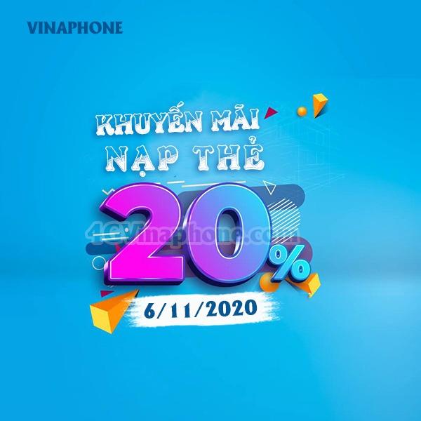 Khuyến mãi Vinaphone ngày 6/11/2020 trên toàn quốc