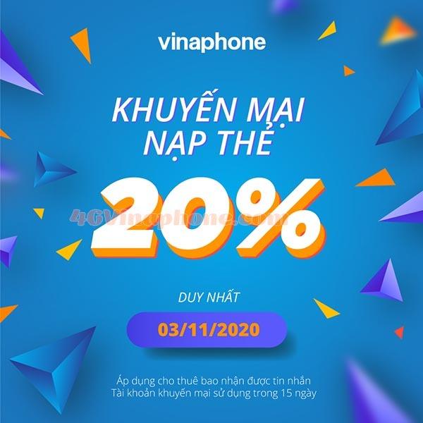Thông tin chi tiết chương trình Vinaphone khuyến mãi ngày 3/11/2020