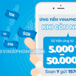Cách ứng tiền Vinaphone lần 2, lần 3, lần 4 khi còn nợ tiền ứng