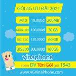Các gói cước 4G Vinaphone giá rẻ nhất 2021 theo tháng, năm từ 10.000đ