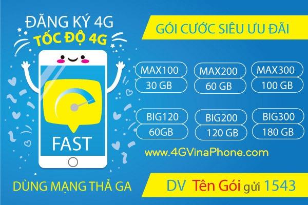 Cách đăng ký 4G Vinaphone 1 ngày, 1 tháng, năm mới nhất 2021 KM Khủng