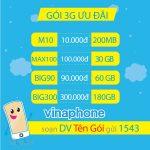 Các gói cước 3G Vinaphone rẻ nhất ưu đãi data khủng mới nhất 2021