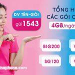 Gói cước 4G Vinaphone ưu đãi 4GB/ngày