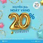 Vinaphone khuyến mãi ngày 23/4/2021 ưu đãi 20% giá trị tiền nạp toàn quốc