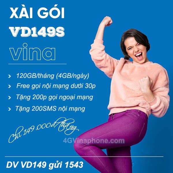 Hướng dẫn cách đăng ký gói VD149S Vinaphone khuyến mãi data và gọi thoại