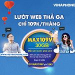 Đăng ký gói cước MAX109V Vinaphone nhận 30GB data, Free data MY TV