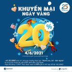 Vinaphone khuyến mãi 4/6/2021 tặng 20% giá trị tiền nạp bất kỳ