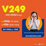 Đăng ký gói cước V249 Vinaphone ưu đãi gọi thoại miễn phí cả tháng